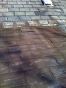 Copper Apron Flashing Covered With Tar