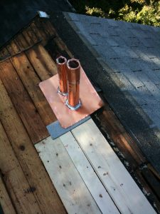 copper pipe flashing