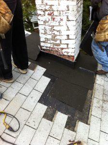 waterproof underlayment on chimney