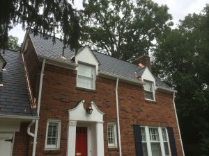 new slate roof with copper flashings