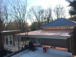 traditional standing seam copper roof