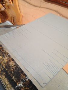 layout marks for cornice