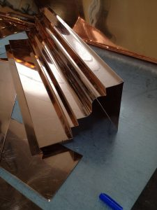 cornice made from copper sheet